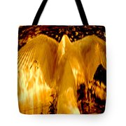 Feathers Of Light - Gold Tote Bag