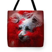 Feathers Of Red Tote Bag