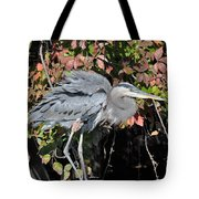 Feathers Ruffled Tote Bag