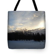 February Dawn Clouds Tote Bag