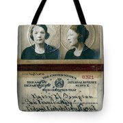 Federal Prohibition Agent Daisy Simpson 1921 Tote Bag