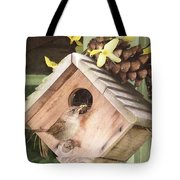 Feeding Birds Tote Bag