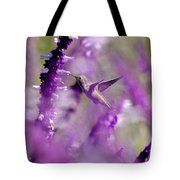 Feeding In The Midst Of Purple 1 Tote Bag
