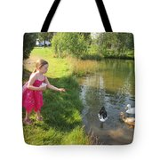 Feeding The Ducks Tote Bag