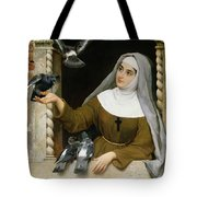 Feeding The Pigeons Tote Bag