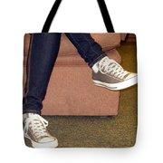 Feet In A Book Store Tote Bag