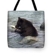 Feasting Bear Tote Bag