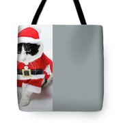 Feline Santa Claus Tote Bag by Benny Marty