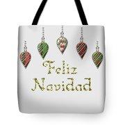 Feliz Navidad Spanish Merry Christmas Tote Bag