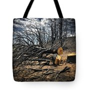 Felled After The Wildfire Tote Bag