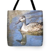 Female Blue Wing Tote Bag
