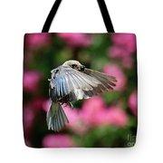 Female Bluebird In Flight Tote Bag