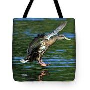 Female Duck Landing Tote Bag