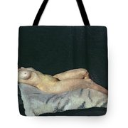 Female Figure Lying On Her Back Tote Bag