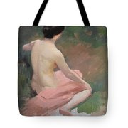 Female Nude Tote Bag by Jules Ernest Renoux