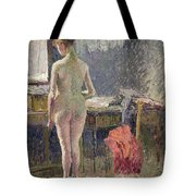 Female Nude Seen From The Back Tote Bag