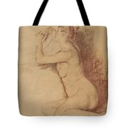 Female Nude With Folded Hands Tote Bag