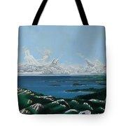 Feminine Landscape Tote Bag
