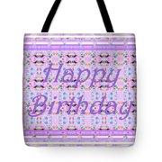 Feminine Lavender Birthday Card Tote Bag
