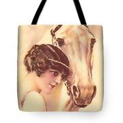 Feminine Rider Tote Bag
