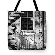 Feminine Stairwell Tote Bag