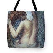 Femme A Sa Toilette Tote Bag by Edgar Degas