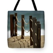 Fence Along The Beach Tote Bag