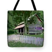 Fence And Cabin Tote Bag