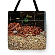 Fence And Chain Tote Bag