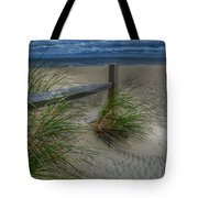 Fence And Dune Grass Tote Bag