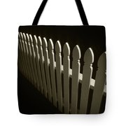 Fence Bw Tote Bag