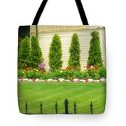 Fence Lined Garden Tote Bag