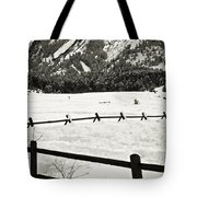 Fence Lines And Flatirons Tote Bag