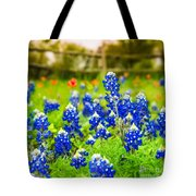 Fence Me In With Flowers Squared  Tote Bag