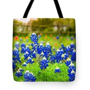 Fence Me In With Flowers Tote Bag
