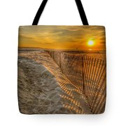Fence On The Beach Tote Bag