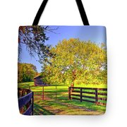 Fence Pasture And Barn 1721 Tote Bag