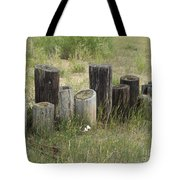 Fence Post All In A Row Tote Bag
