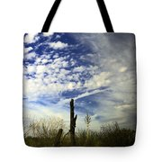 Fence Post And New Mexico Sky Tote Bag