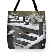 Fence Post At Donner Lake Area Covered Tote Bag