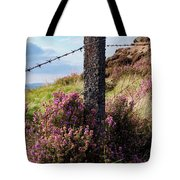 Fence Post In The Peak District Tote Bag