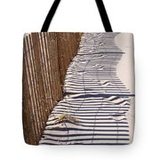 Fence Shadow Tote Bag