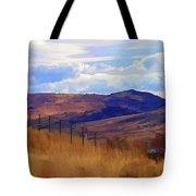 Fence Views Wyoming Color Tote Bag