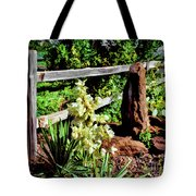 Fence-yucca-rock Tote Bag