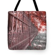 Fenced In Red Tote Bag