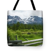 Fenced In Sawtooths Tote Bag