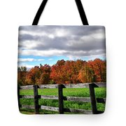 Fences, Fields And Foliage Tote Bag