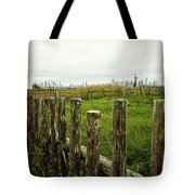 Fences In A Stormy Light Tote Bag
