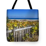 Fences On The Dunes Tote Bag