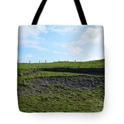 Fencing Along A Field Above The Cliff's Of Moher Tote Bag